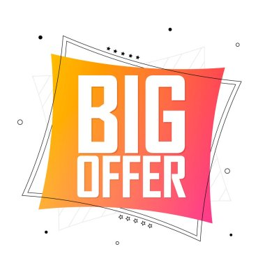 Big Sale, banner design template, discount tag, special offer, promo tag, spend up and save more, promotion poster, vector illustration