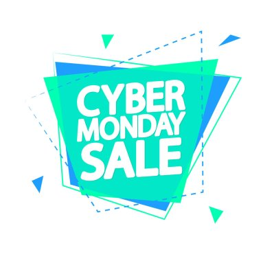 Cyber Monday Sale, banner design template, clearance offer, end of season deal, dont miss out, vector illustration