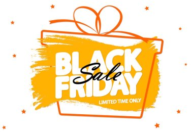 Black Friday Sale, banner design template, discount tag, special offer, dont miss out, app icon, vector illustration