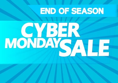 Cyber Monday Sale, poster design template, special offer, vector illustration