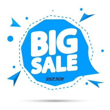 Big Sale, tag design template, discount speech bubble banner, app icon, vector illustration