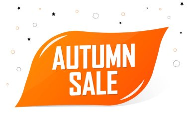 Autumn Sale, banner design template, discount tag, special offer, promo tag, spend up and save more, promotion poster, vector illustration