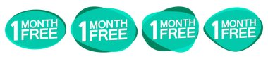 1 month Free, banner design template, don't miss out, vector illustration