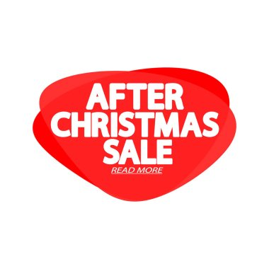 Christmas Sale tag, bubble banner design template, special offer, limited time only, app icon, spend up and save more, Xmas promotion poster, vector illustration