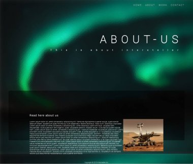About Us Website page design With HTML and CSS