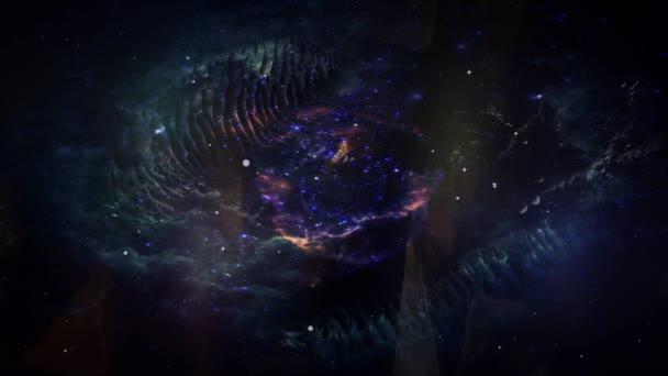 Animáció a mozgás porfelhő, és a csillagok. Hely háttér köd és a csillagok a használata a projektek, a tudomány, a kutatás és az oktatás. Ez a kép a Nasa berendezett elemei