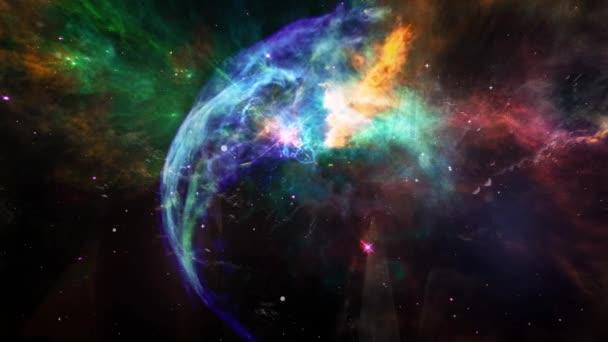 Animace pohybu prachu a plazmy barevné mraků a hvězd. Místo na pozadí pro použití s projekty v oblasti vědy. Prvky tohoto obrázku jsou podle Nasa.