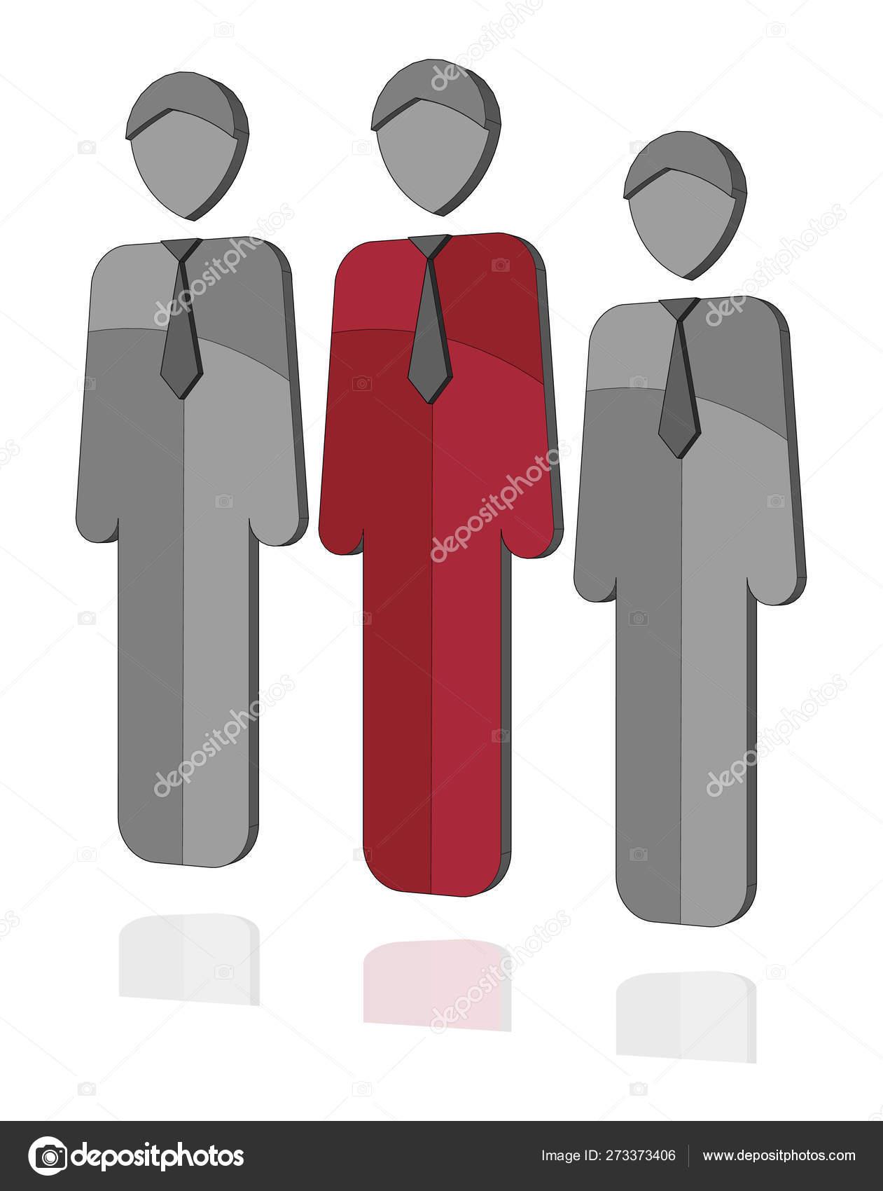 Three Businesmen Icon Silhouettes Vector User Corporate Team