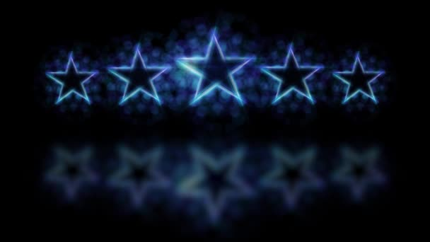 Five stars customer product rating review loopable animation.