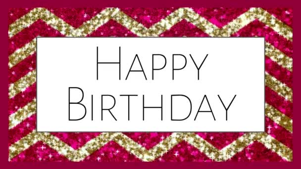 Happy Birthday text congratulations glitter animation