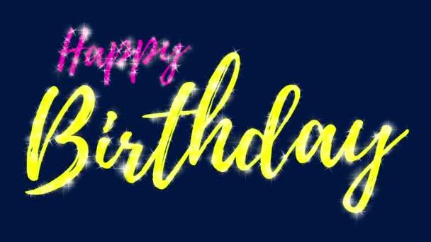 Šťastné narozeniny textová karta výročí kaligrafie