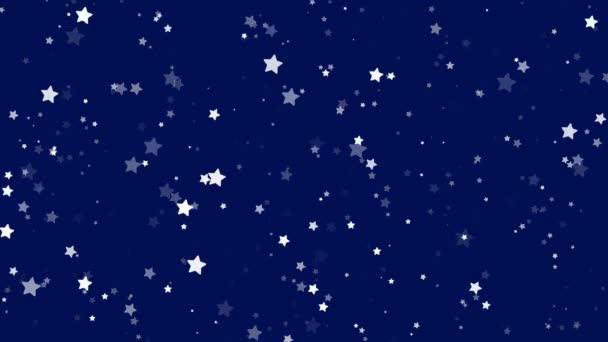 Blue stars glitter star pattern background animation