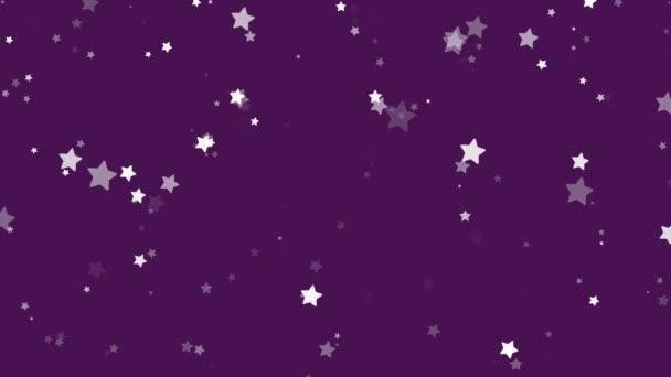 Stardust sparkling purple glitter stars background