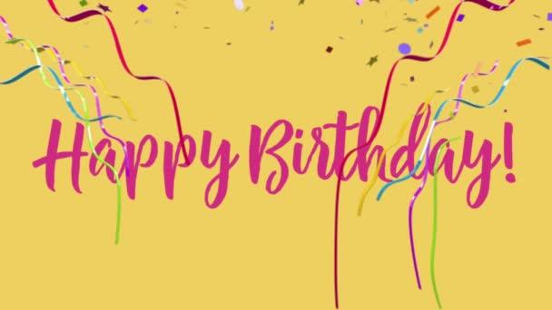 Šťastné narozeniny veselá konfety party