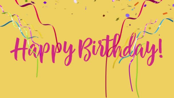 Happy Birthday cheerful confetti party