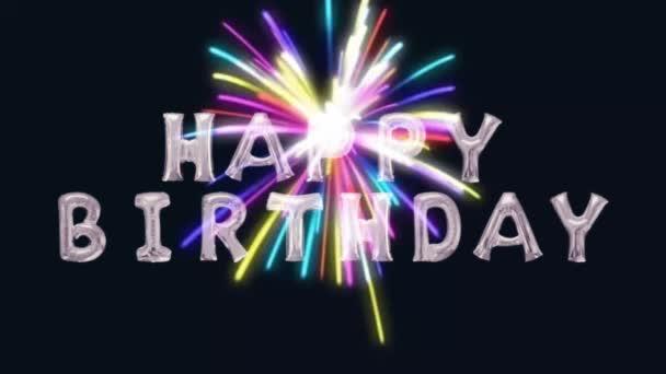 Happy Birthday fireworks party celebration anniversary
