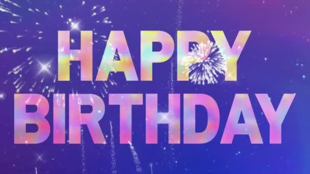 Boldog születésnapot tűzijáték party ünneplés évfordulója