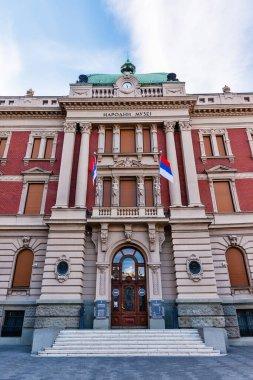 Belgrade, Serbia - August 27, 2020: The National Museum in Belgrade. It is located in the main Republic Square in Belgrade.