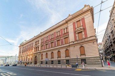 Belgrade, Serbia - August 27, 2020: The building of the National Museum in Belgrade