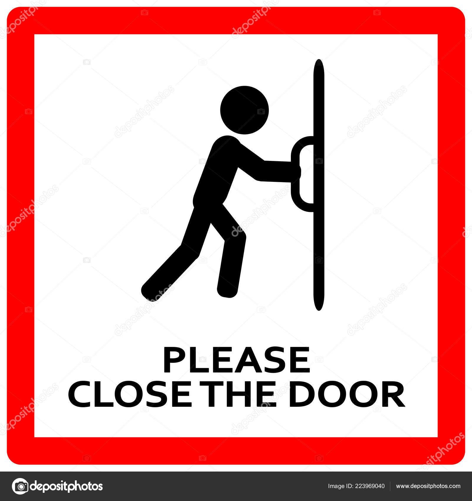 Close The Door >> Close Door Sign Keep Door Closed Sign Stock Vector C Lucaso 223969040