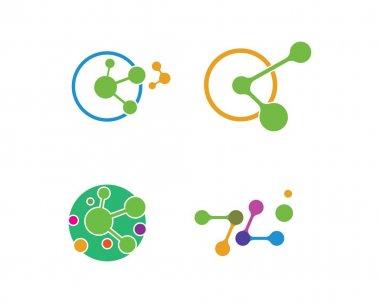 molecule logo vector illustration design