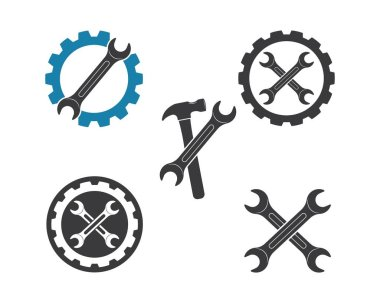 wrench vector illustration and icon of automotive repair
