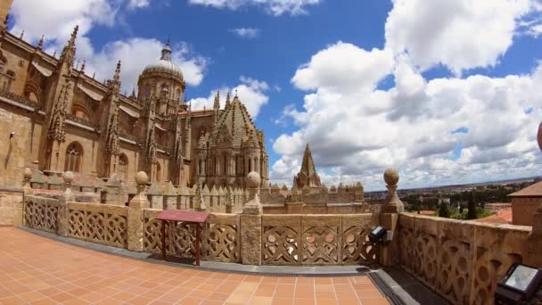 Timelapse from the rooftop of Old Cathedral of Salamanca, Spain
