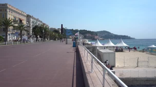 Promenade des Anglais in Nice in France - Pan