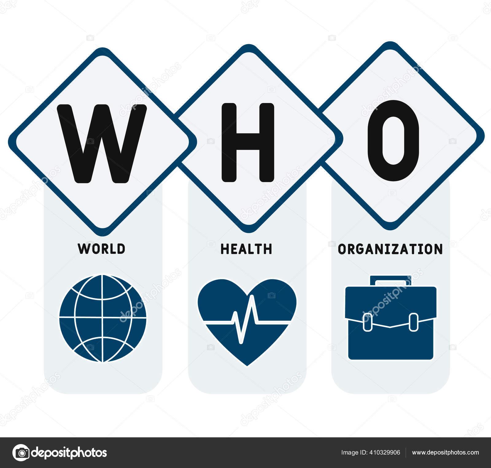 Oms Organização Mundial Saúde Sigla Fundo Conceito Médico Conceito  Ilustração — Vetores de Stock © lnc@list.ru #410329906