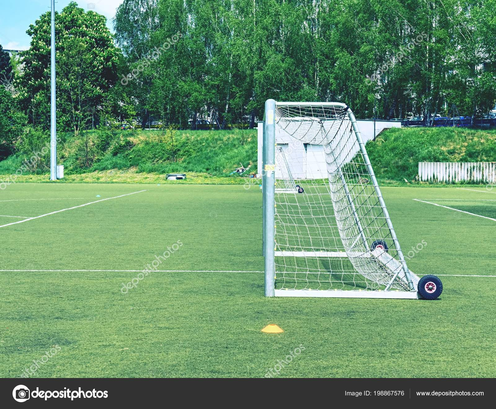 Das Fussballtor Sommer Leere Training Tor Fur Klassische