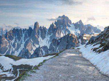 Alps - popular mountains in Europe.  Ridge in early summer scenery.