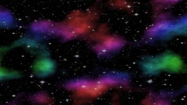 Abstraktní galaxie létá. Vesmírný volný prostor s mraky hvězd. Noční nebe. Mléčná dráha v hlubokém mezihvězdném.