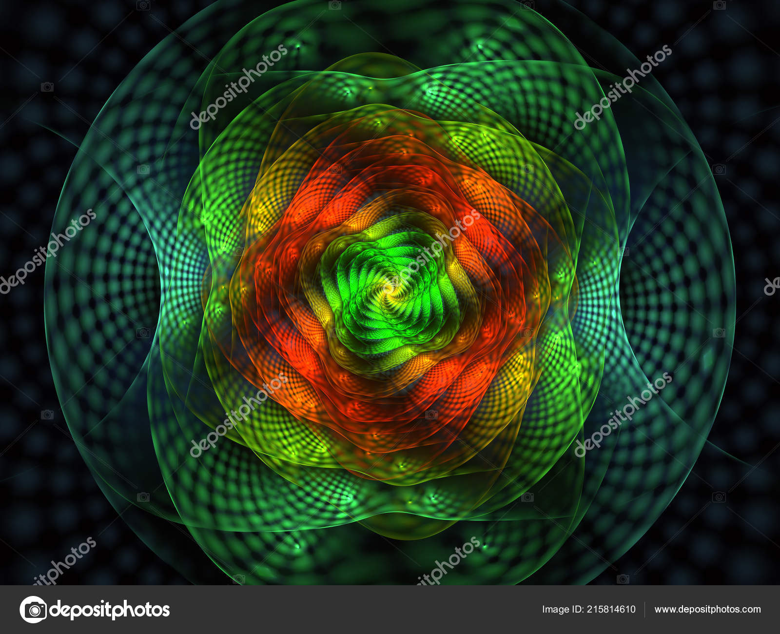 Abstract Fractal Grids Spirals Spiral Flower Usable Desktop