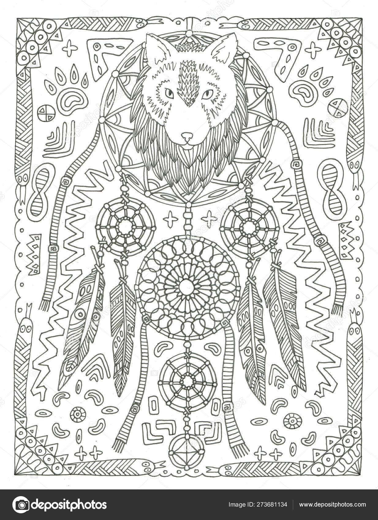 - Dream Catcher Coloring Page Free Hand Drawn Ink Illustration