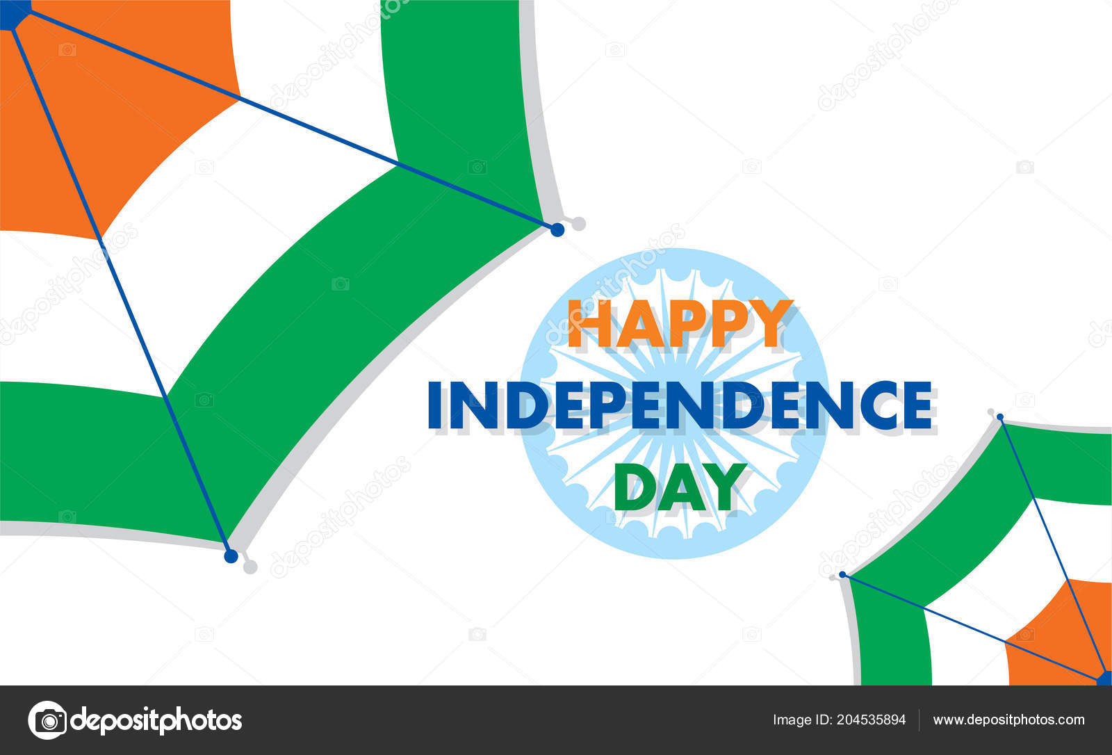 Independence Day India 15th August Greeting Design Stock Vector