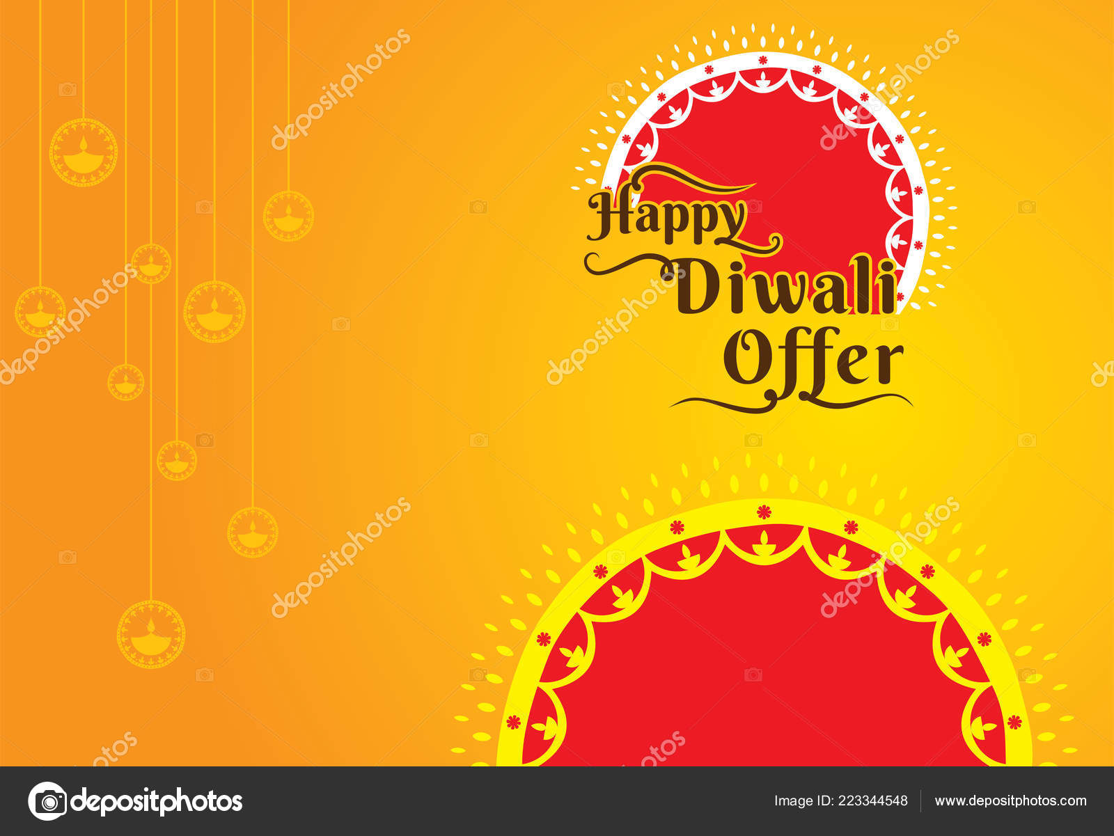 creative diwali festival offer poster design layout template stock illustration