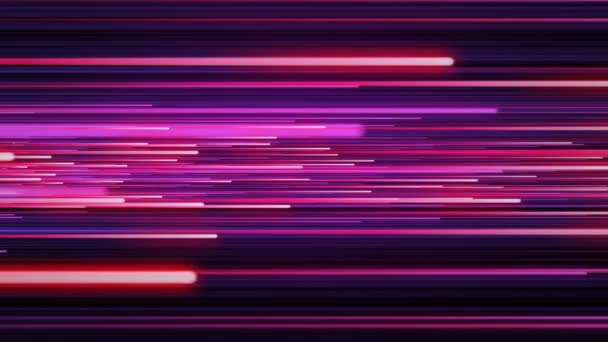 Beautiful Color Rain Pink-Blue Neon Tubes Illuminating. Digital Design Concept. Looped 3d Animation of Glowing Lines 4k Ultra HD 3840x2160.