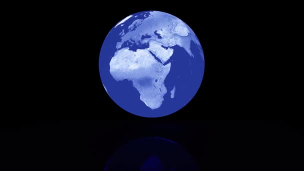 abstract rotating earth globe as 3d rendering