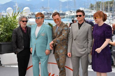Dexter Fletcher, Elton John, Taron Egerton, Richard Madden & Bryce Dallas Howard