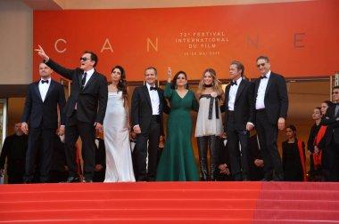 Leonardo DiCarprio, Quentin Tarantino, Daniela Pick, David Heyman, Shannon McIntosh, Margot Robbie & Brad Pitt