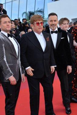 Taron Egerton, Sir Elton John & David Furnish