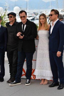 Brad Pitt, Quentin Tarantino, Margot Robbie & Leonardo DiCaprio