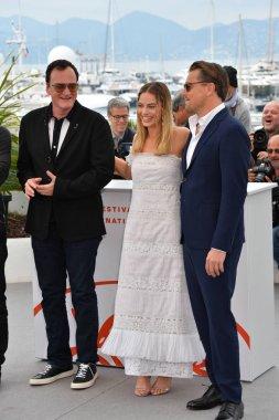 Quentin Tarantino, Margot Robbie & Leonardo DiCaprio