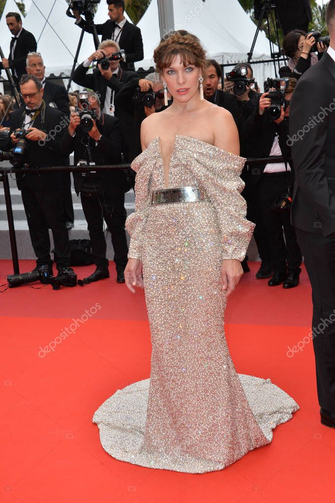CANNES, FRANCE. May 24, 2019: Milla Jovovich at the gala premiere for