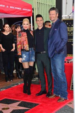 Gwen Stefani & Adam Levine & Blake Shelton