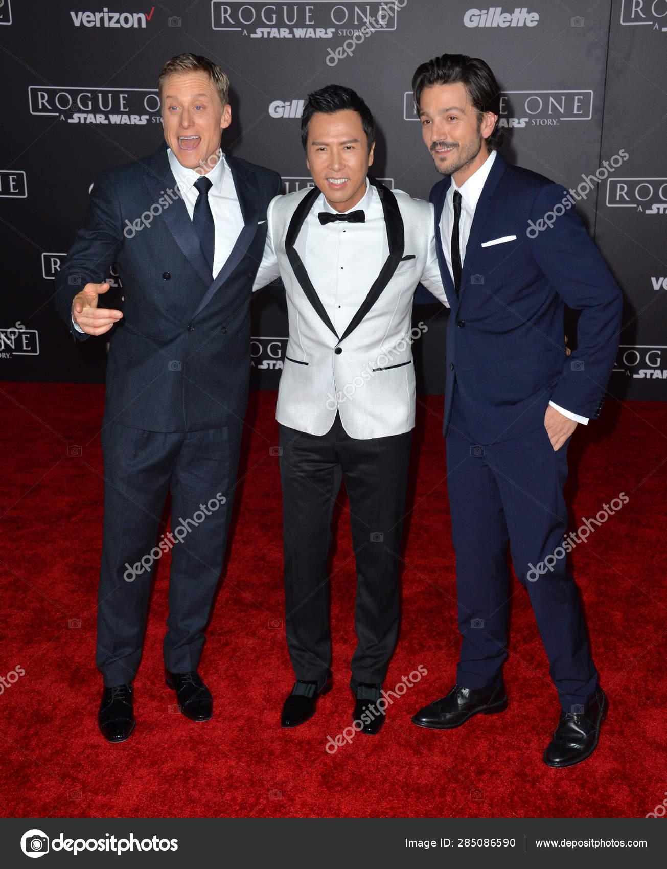 Alan Tudyk, Diego Luna & Donnie Yen – Stock Editorial Photo