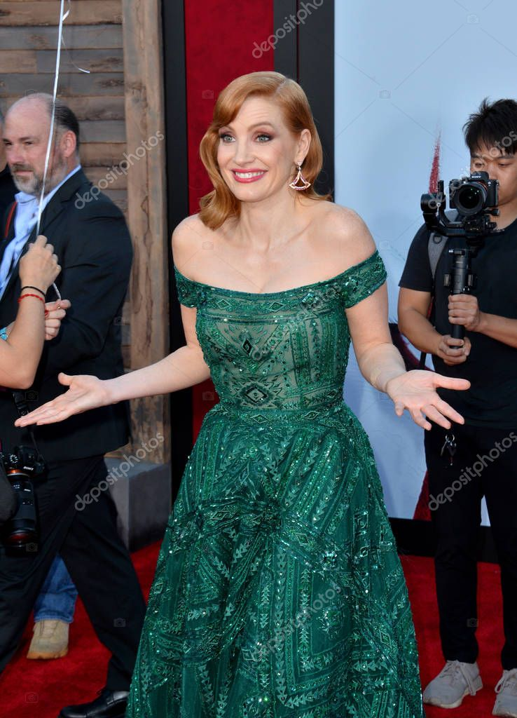 LOS ANGELES, USA. August 27, 2019: Jessica Chastain at the premiere of
