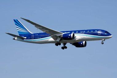 ISTANBUL / TURKEY - MARCH 28, 2019: AZAL Azerbaijan Airlines Boe