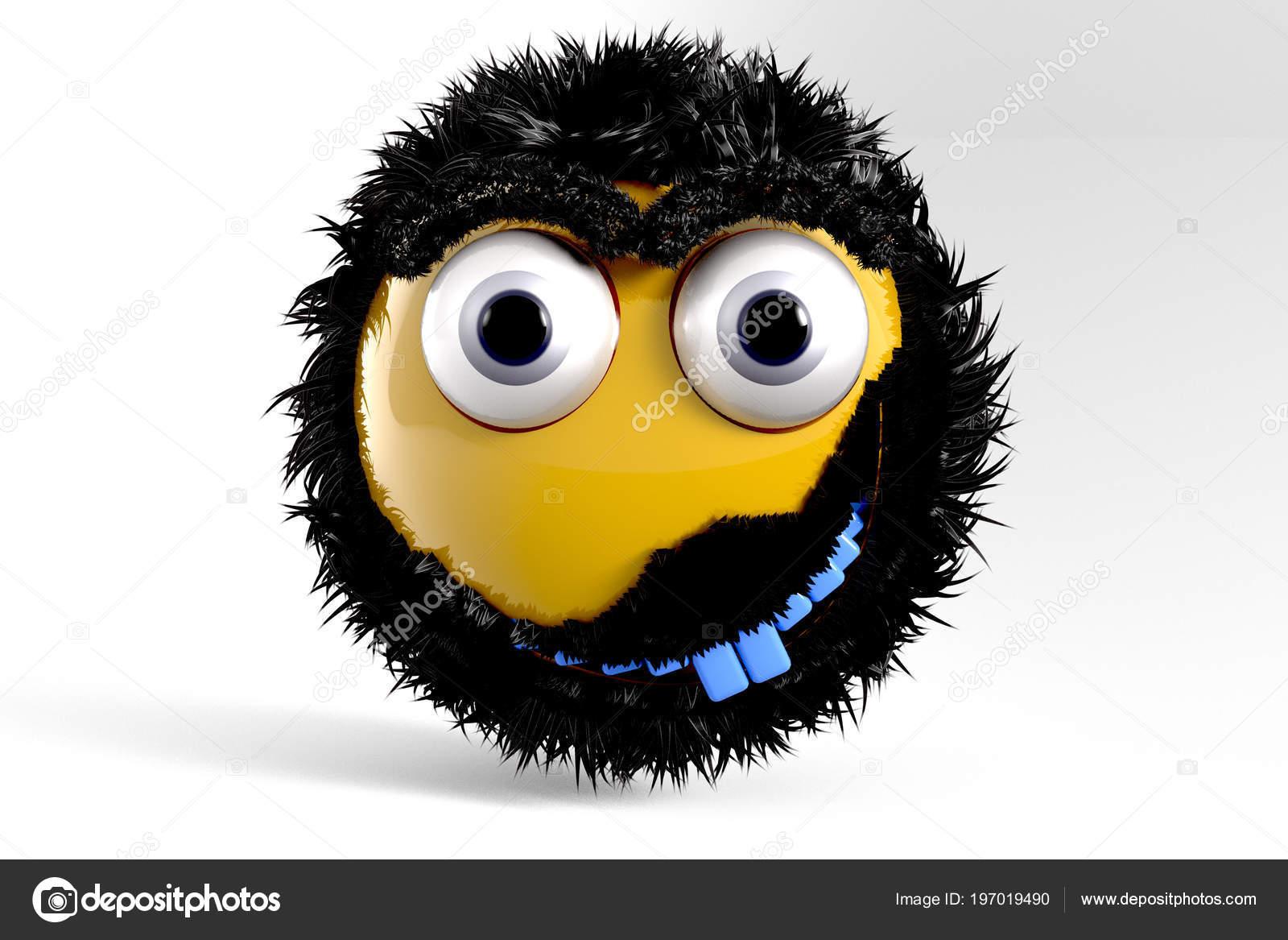 Illustration Yellow Emoji Symbol Bluetooth Stock Photo