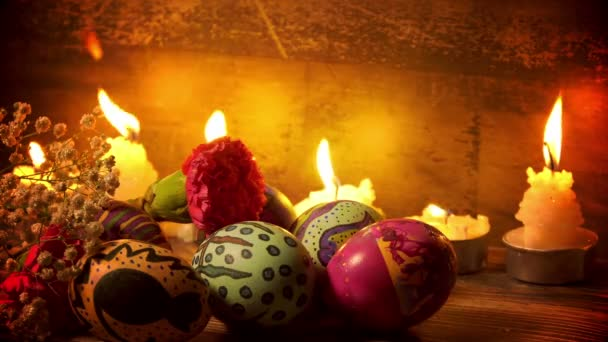 Colorful Easter Paschal Eggs Celebration